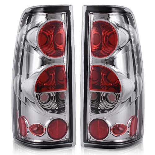 Taillights Tail Lamps For Chevy Chevrolet Silverado 1500 2500 3500 1999-2006 & 2007 with Classic Body Style GMC Sierra 1500 2500 3500 1999-2002 (Do Not Fit Barn Door/Stepside Models)