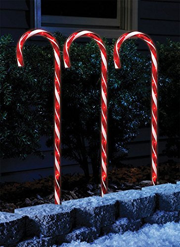 """Celebrations 21258-71 Transparent Candy Canes, 27"""" H, 36 Clear Lights, - Celebrations 21258-71 Transparent Candy Canes, 27"""