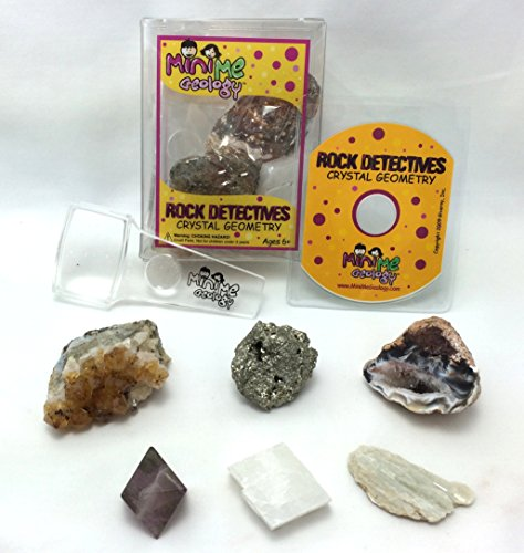 Mini Me Geology Crystal Geometry Rock Detectives Kit - Minerals Collection with E-book