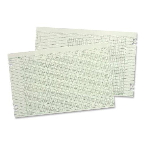 Wilson Jones Accounting Sheets, 36 Columns, 11 x 17 Inches, Green, 100 Loose Sheets per Pack (G50-36)