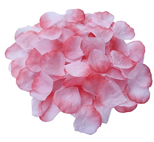 (DALAMODA 1000pcs Silk Coral Rose Petals Artificial Flower Wedding Party Aisle Decor Tabl Scatters Confett (Coral #1) )