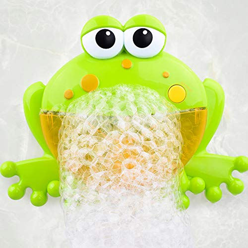 Hot Sale!DEESEE(TM)Bubble Machine Tub Big Frog Automatic Bubble Maker Blower 12 Music Song Bath Toy for - 13 Tub