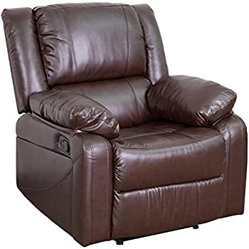 Flash Furniture Harmony Series Brown Leather Recliner  sc 1 st  Amazon.com & Amazon.com: Flash Furniture Plush Brown Leather Lever Rocker ... islam-shia.org