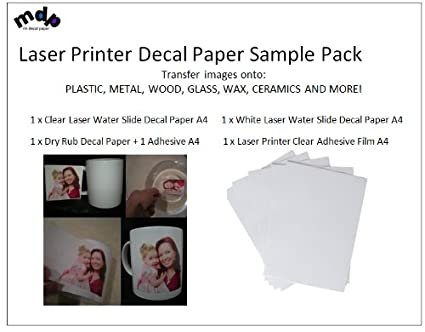 Para impresoras láser a cuatro de papel adhesivo de vinilo y ...
