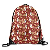 Corgi Junk Food Cute Dogs Pizzas Cool Drawstring Travel Sports Backpack Gift