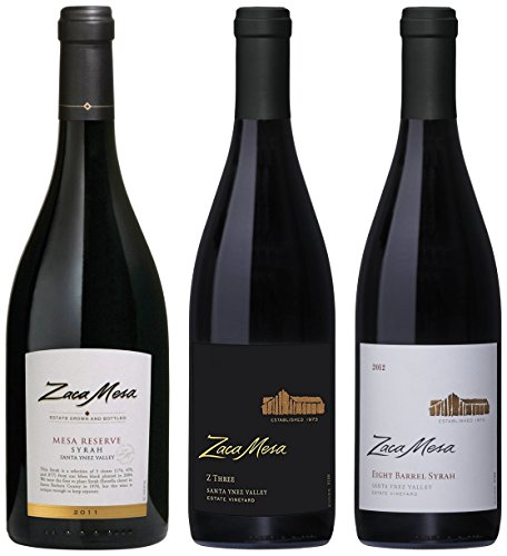 Zaca Mesa Winery Santa Barbara Holiday Reserve Gift Pack Wine 3 x 750 mL