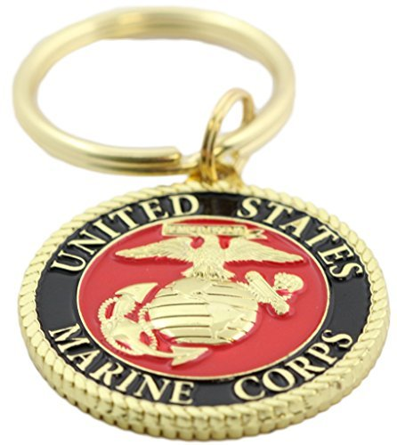 (EEC, Inc. US Marine Corps Logo Keychain Patriotic Key Ring Military Gift Men Women Veteran,Red,1)
