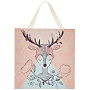 Lolli Living Canvas Deer Print for Nursery Decor. Screen Printed Woodland Wall Art for Baby Room