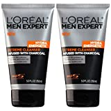 Facial Cleanser Home - L'Oréal Paris Skincare Men Expert Hydra Energetic Facial Cleanser with Charcoal for Daily Face Washing, 2 count
