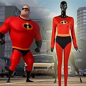 - 51dmet4C0rL - Yejue The Incredibles 2 Super Woman Mr. Incredible Zentai Jumpsuit