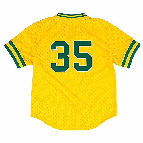 Rickey Henderson Gold Oakland Athletics Authentic Mesh Batting Practice Jersey Medium (40)