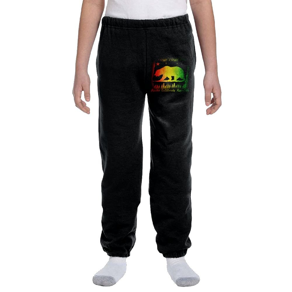 Rasta California Republic,Flag Fashion Durable Unisex Casual Sweatpants For Young Boys and Girls by LuckyKidSweatpants