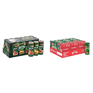Perrier Fusions, Assorted Flavors, 11.15 Fl Oz Cans (Pack of 18) & Strawberry Flavored Carbonated Mineral Water, 8.45 Fl Oz (30 Pack) Slim Cans