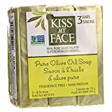 oil soap - Kiss My Face Naked Pure Olive Oil Moisturizing Bar Soap, 4ounce, 3 Count