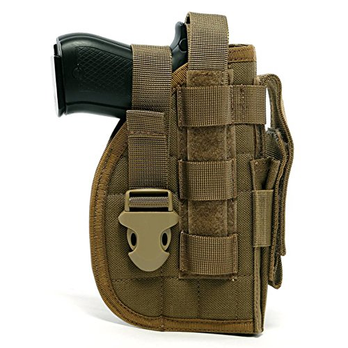 Adjustable Holster - DYJ Adjustable Right Handed Tactical Molle Modular Belt Holster For Pistol(1000D) (Coyote Brown)