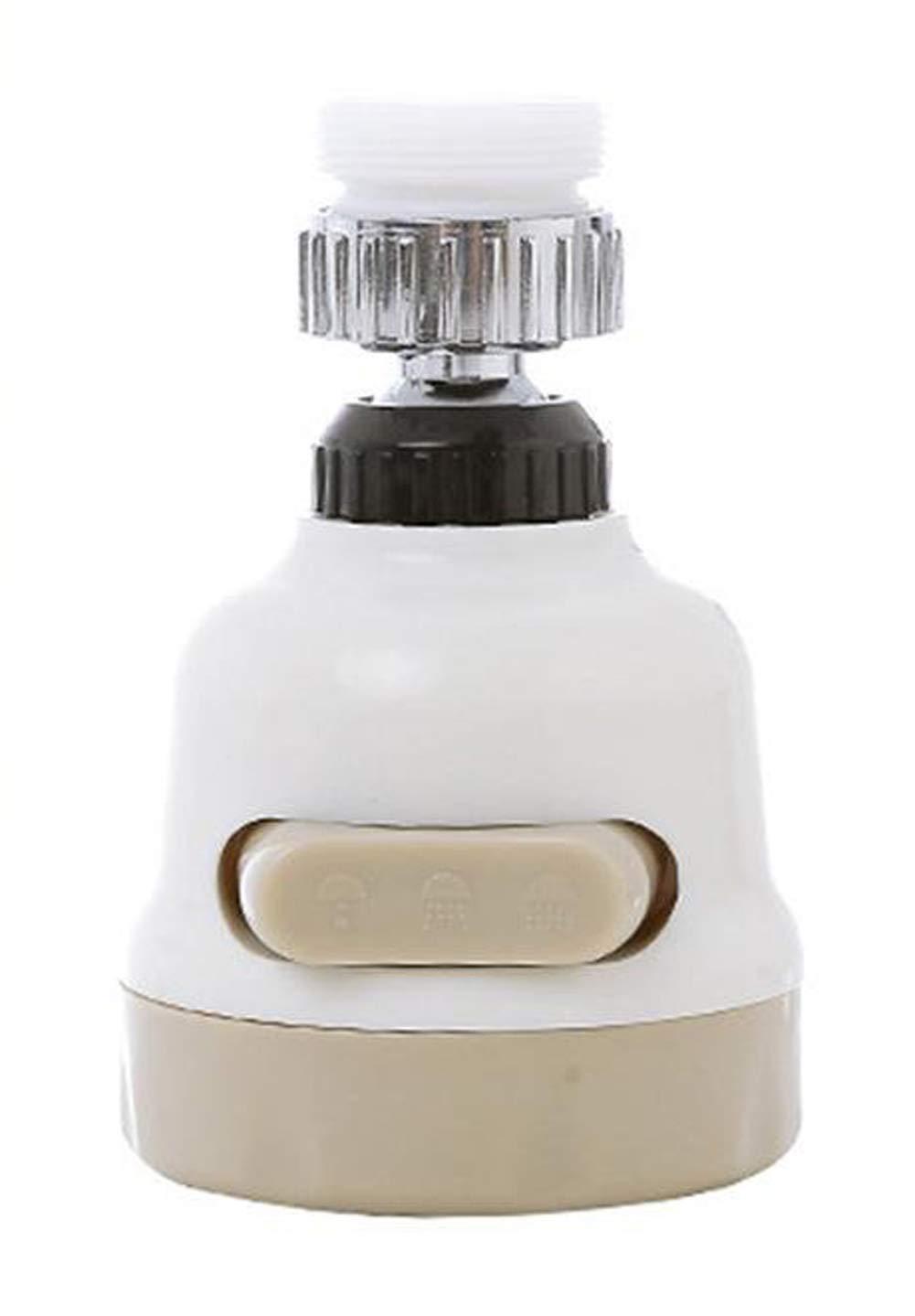Grifo pulverizador de tres engranajes ajustable, tapó n de ahorro de agua antisalpicaduras, boquilla de grifo filtro aireador difusor para cocina bañ o tapón de ahorro de agua antisalpicaduras JRong