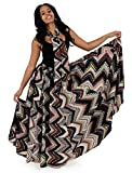 African Geometric Print Flared Skirt with Matching Scarf