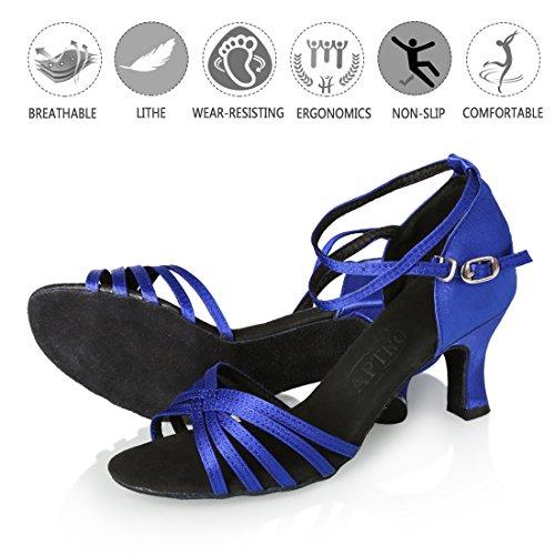 Donna Banchetto Ballo Blu Scarpe Latino APTRO Stanza adWqf5xFwa