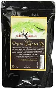 Moringa Tea - 100% Organic Ghana Grown (30 Tea Bags),net wt.,2.12 oz