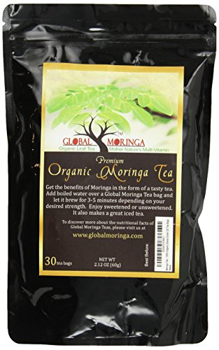 Moringa Tea - 100% Organic Ghana Grown (30 Tea Bags),net wt.,2.12 oz