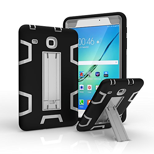 Samsung Galaxy Tab E 8.0 Case,T377/T375 Case,Jeccy 3in1 Full-body Shock Proof Hybrid Heavy Duty Armor Defender Protective Case,Silicone Skin Hard Plastic Case for Samsung Tab E 8.0 inch SM-T377/T375