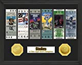The Highland Mint NFL Pittsburgh Steelers SB Championship Ticket Collection Frame