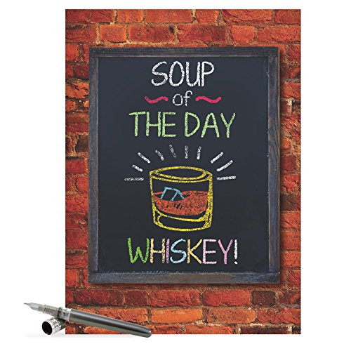 NobleWorks J9794 Jumbo Funny Get Well Card: 'Soup of the Day' with Matching Envelope