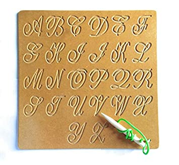 Futurez Key Capital Alphabet Tracing Cursive Board/ Wooden Writing Practice Boards - Educational Learning Toys for Kids