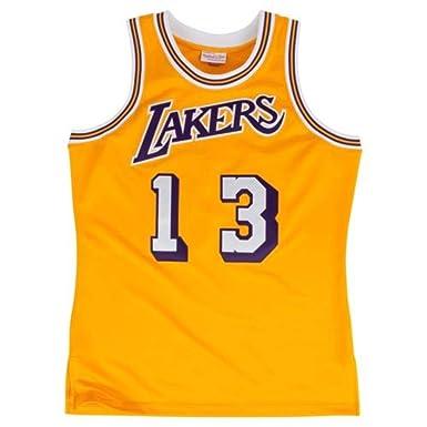 3b6a92ec Wilt Chamberlain LA Lakers Hardwood Classics Throwback Jersey Gold Men's ...