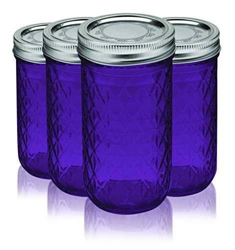 Ball Jar Crystal Jelly Jars With Lids And Bands 12oz