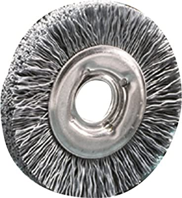 "SAIT 04140 4"" x 5/8 Arbor 180 Grit Large Diameter Angle Grinder Nylon Abrasive Brush"