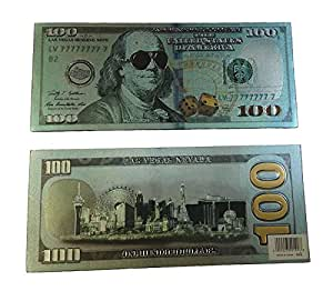 (1) New Strong Magnet $100 US Bill and Las Vegas Strip View Reversible Magnet