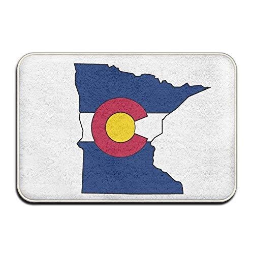 Pillow Hats Custom Minnesota Colorado Flag Doormat - Floor M