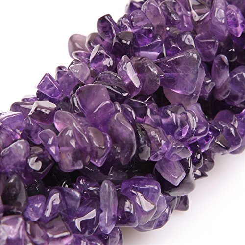 SHG Store 7-8mm amethyst Chips Beads Strand 34 Inch Jewelry Making Beads Agate Chips for Bracelet Necklace Earrings Jewelry Making Crafts Design Healing Wholesale Loose Beads
