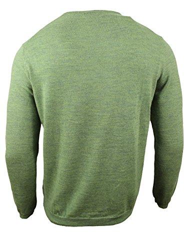 Calvin Klein Men's Merino Solid V-Neck Sweater, Pasture Heather, Large