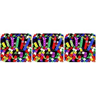 Childcraft Linking Cube Set, 3/4 Inches, Assorted Colors, Set of 100 - 264681 (Тhrее Расk)