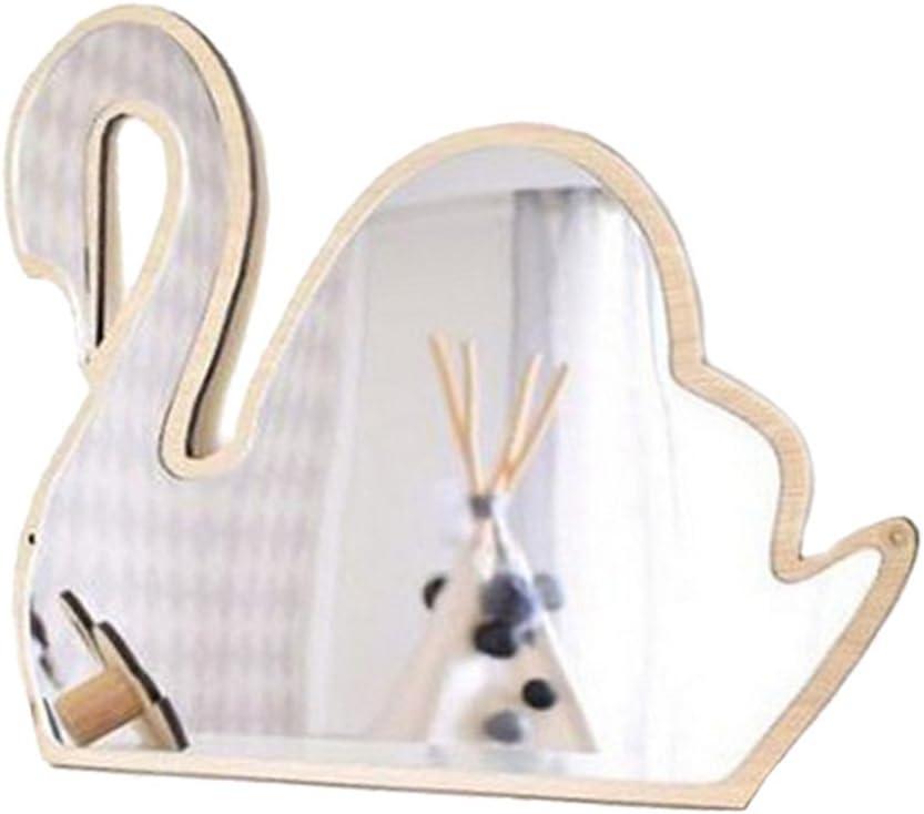# 1 FLAMEER Decorazione per Camera da Letto per Bambini Specchio Acrilico Infrangibile Corona Farfalla