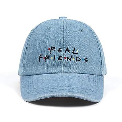 AAMOUSE Baseball Cap Washed Denim Real Friends Hat Trending Rare Baseball Cap I Feel Like Pablo