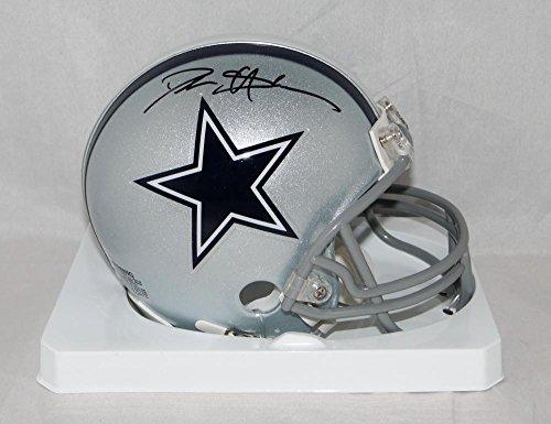 Deion Sanders Helmet - Deion Sanders Autographed Dallas Cowboys Mini Helmet- JSA Witnessed Auth Black