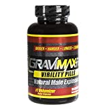 Goliath Labs GraviMax-RX Virility Pills for Natural Male Explosions, 60 Capsules