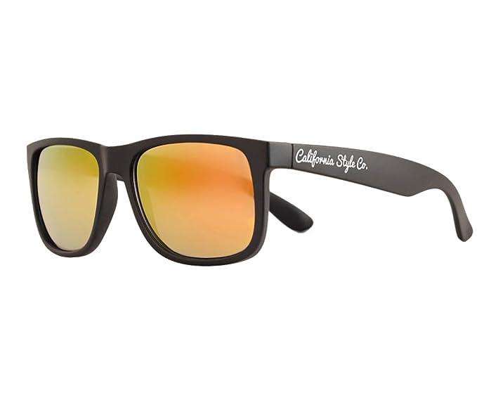 Gafas de sol California Style Co Classic Naranja Espejada ...