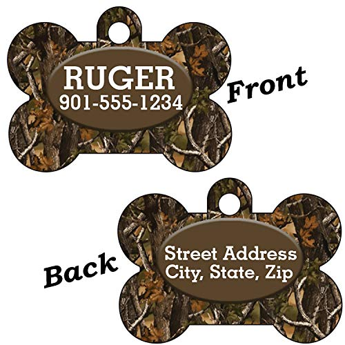 - uDesignUSA Camo 2-SIDED Pet Id Tag for Dogs & Cats Personalized for Your Pet (Realtree Outdoor)