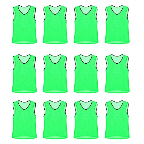 Unlimited Potential Nylon Mesh Scrimmage Team Practice Vests Pinnies Jerseys for Children...