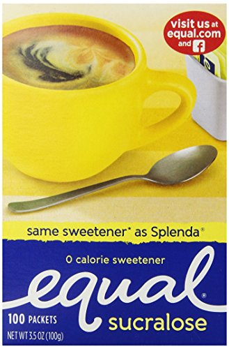 Equal Yellow Packet, 100-Count (Artificial Sweetener)