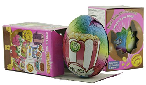 Choco Treasure Shopkins Chocolate Egg Plus Toy Treasure, 2 Pack