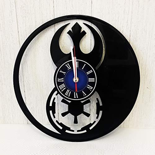 Star Wars Rebel Alliance (Resistance) vs Empire Wall Clock Made from 12 inches / 30 cm Vintage Vinyl Record | Star Wars Gift for Men Boys Husband | Star Wars Rebels Clock | Star Wars Merchandise |