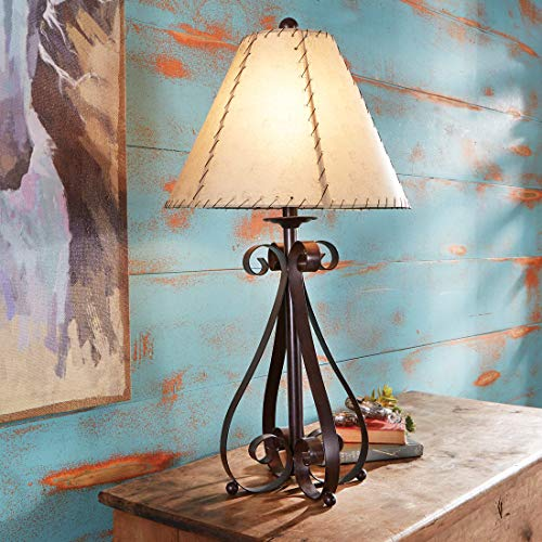 (BLACK FOREST DECOR Prairie Scroll Table Lamp)