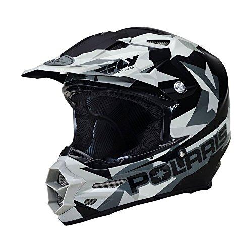OEM Polaris Fly F2 Fractal Carbon Fiber Open Face Offroad Helmets XS-5XL (Polaris Atv Helmet)