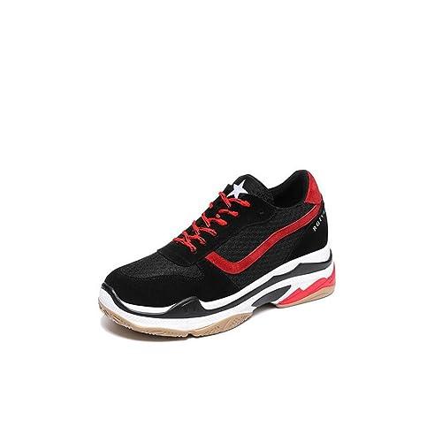 Zapatos Casuales de Las Mujeres Zapatos Casuales 2018 Zapatos Planos de la Primavera y del Verano de Corte bajo Zapatos (Color : Rojo, Tamaño : 37): ...
