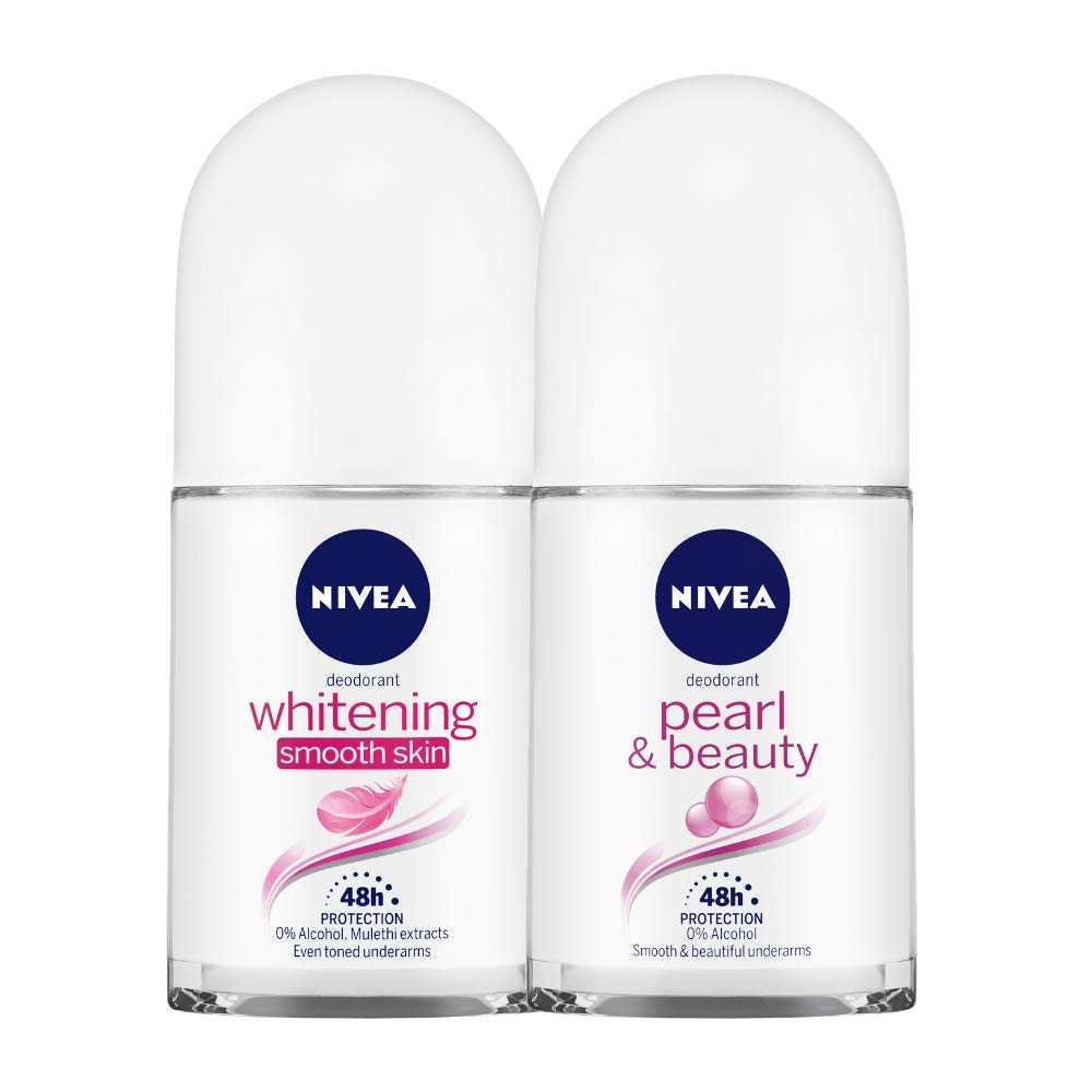 Buy Nivea Deodorant Roll-On, Whitening Smooth Skin, 50Ml And Nivea
